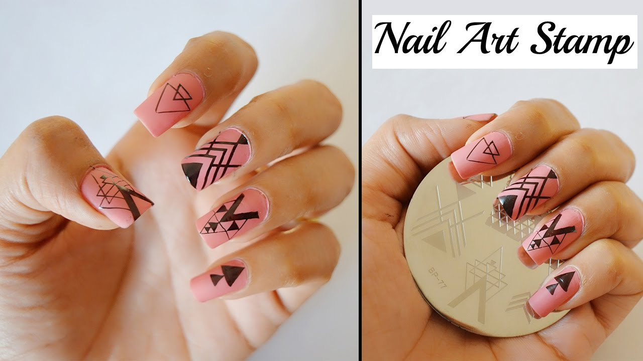 Nail Art Stamp-TUTORIAL - YouTube