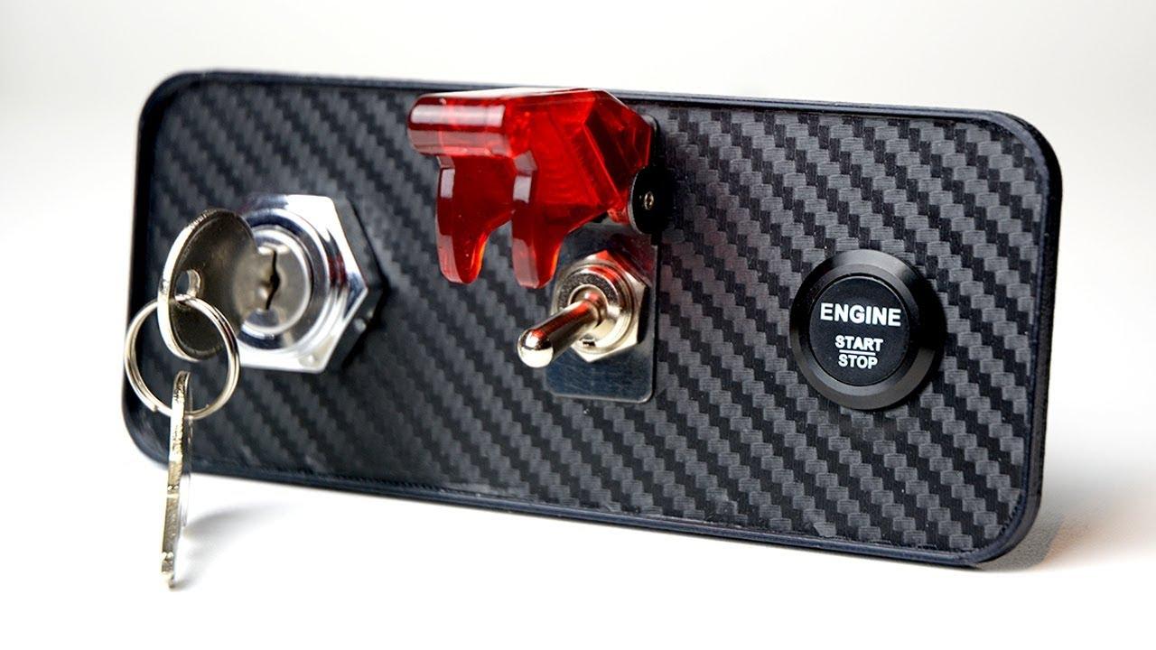 how to wire ignition key starter switch sim button box [ 1280 x 720 Pixel ]