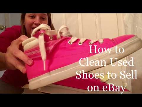 How to Clean Used Shoes to Sell on eBay