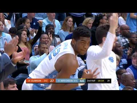 UNC Men's Basketball: Cameron Johnson Drains 6 Triples vs. Clemson