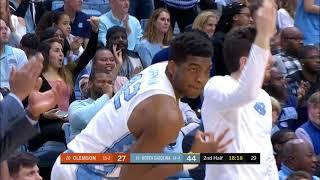 UNC Men's Basketball: Cameron Johnson Drains 6 Triples vs. Clemson