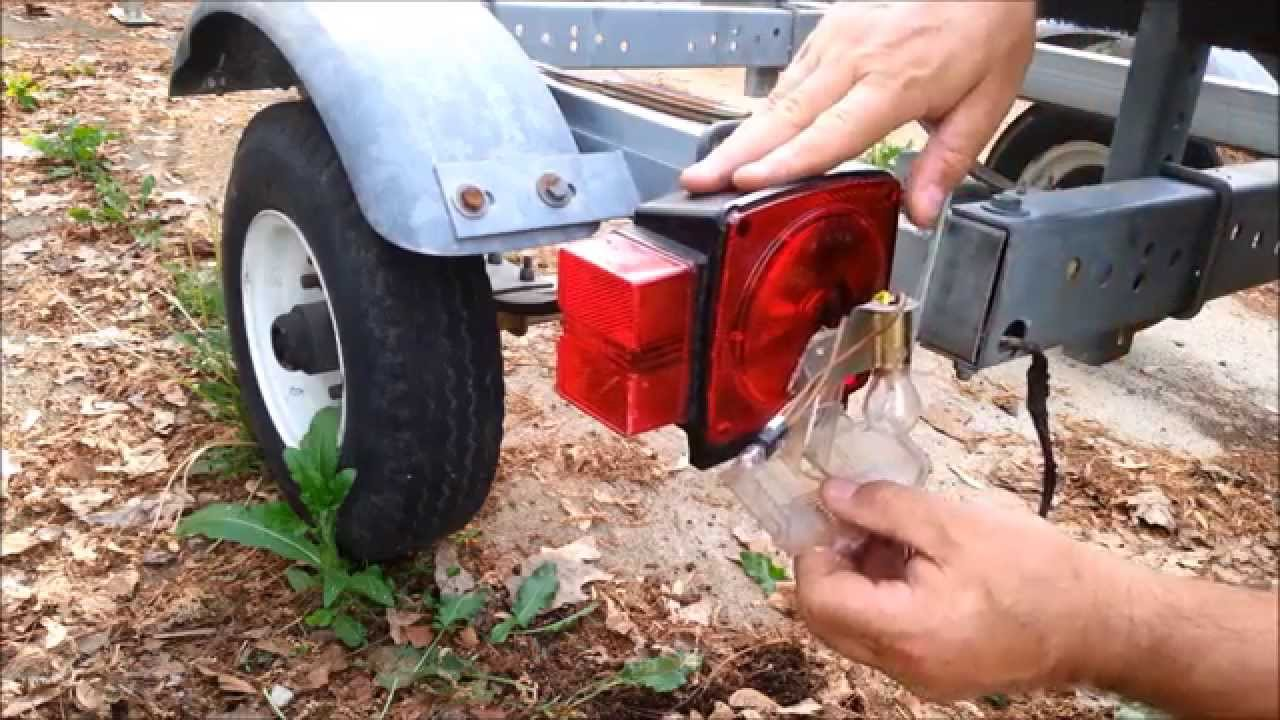 Fix it! Busted Off Boat, RV, Camper Trailer Light - YouTube