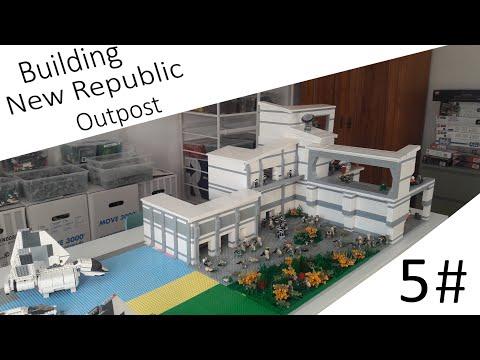 Building New Republic Outpost Moc #5 Das Gebäude ist fast fertig !!!