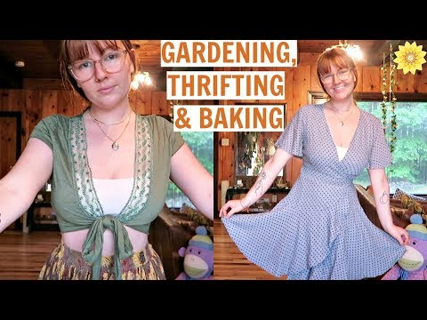 GARDEN UPDATES, THRIFTING WITH ANI, & MAKING TREATS
