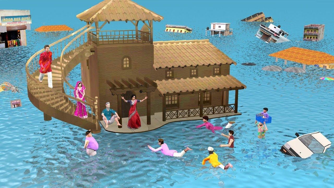 गरीब जादुई मिट्टी का घर  बाढ़ Magical Mud House Floods Comedy Video हिंदी कहानियां Hindi Kahaniya