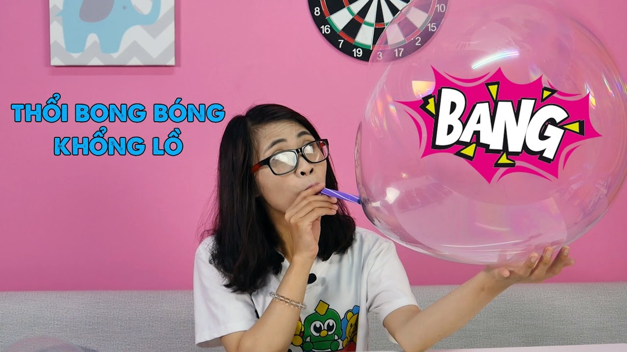 HOW TO MAKE GIANT BUBBLE -Thổi bong bóng khổng lồ