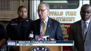 Sen. Schumer pushes for firefighter cancer registry
