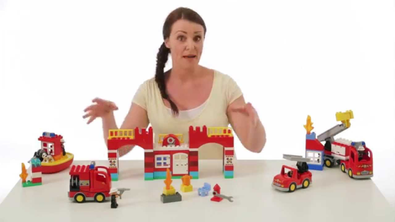 Fire Station - LEGO DUPLO - On the Table 10593 - YouTube