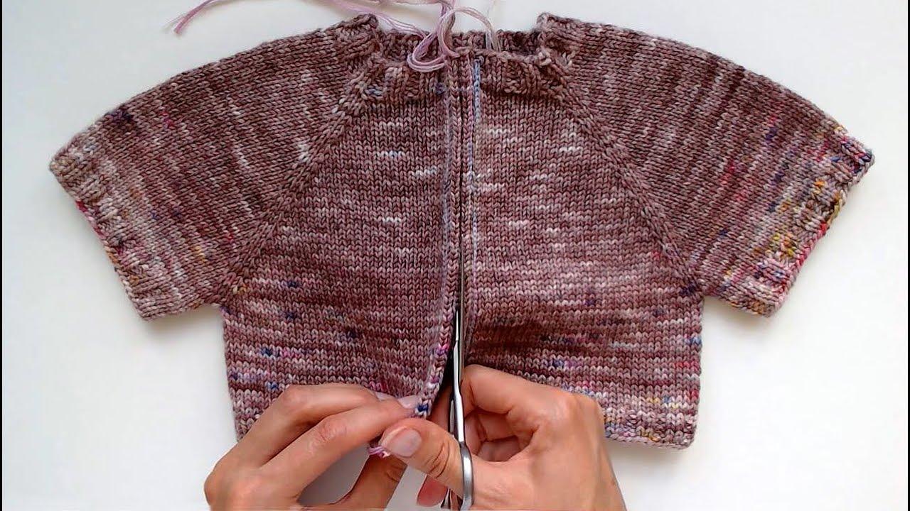 Как РАЗРЕЗАТЬ вязание | из КРУГОВОГО пуловера делаю КОФТУ на МОЛНИИ