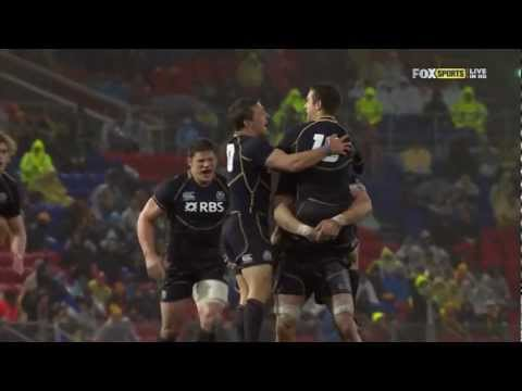 Wallabies versus Scotland 2012 Highlights