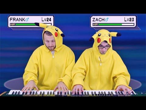 Pikachu vs. Pikachu Piano Battle (Pokémon OST) | Frank & Zach Piano Duets