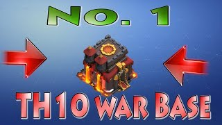 Best TH10 War Base 2018 + Proof | New COC Town Hall 10 War Base | Clash of Clans