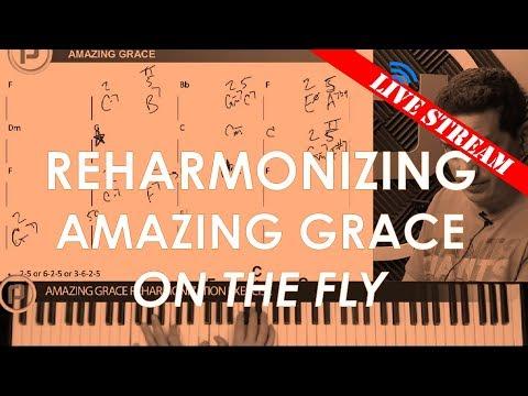 Reharmonization of Amazing Grace on the fly (PDF in description)