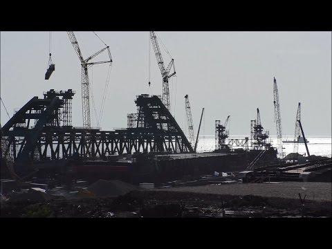 Строительство Керченского моста (май, 2017).