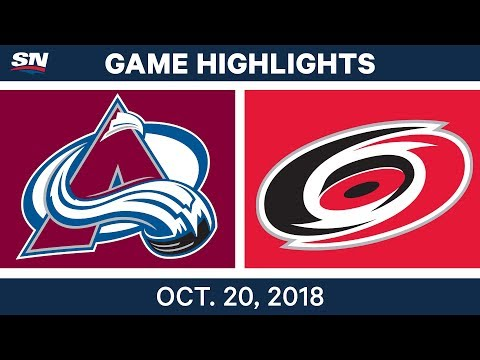 NHL Highlights | Avalanche vs. Hurricanes - Oct.20, 2018