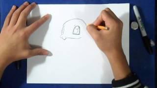 как рисовать черепаха - Pokemon