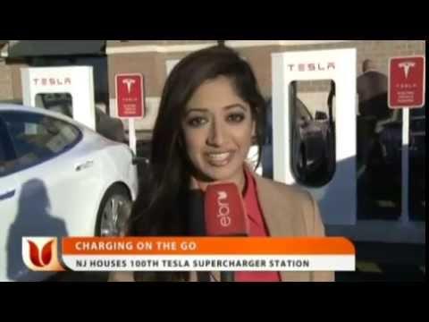 NJ Houses 100th Tesla Supercharger Station