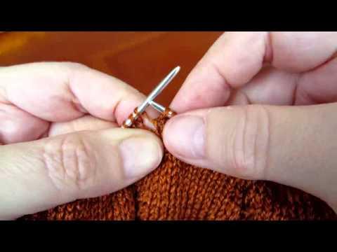 Протяжка в вязании спицами: наглядный урок с описанием