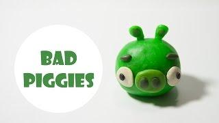 Лепим из пластелина плохую свинью из игры Энгри Бердз. Bad Piggies — Angry Birds