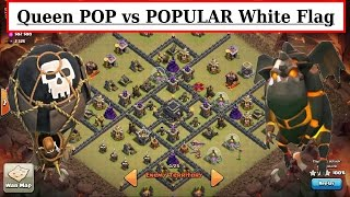 Queen POP LaLoon vs White Flag MAX TH9. Hound in C.C. Clash of Clans