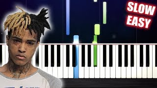 XXXTENTACION - changes - SLOW EASY Piano Tutorial by PlutaX