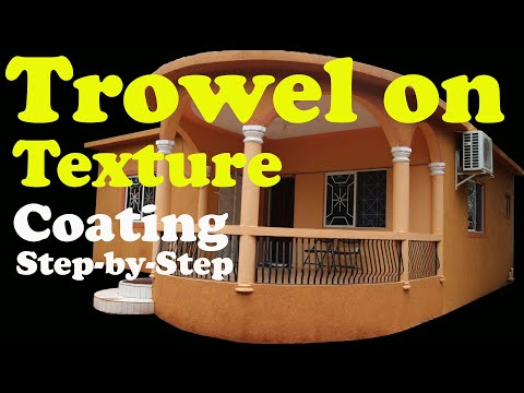 Paint 🎨 Trowel On Texture Coating House 🏠 Step-by-Step Drywall Skip Wall Cement  Concrete