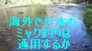 日本のミャク釣りを海外で試してみた Traditional Japanese Fishing Technique on Canadian River
