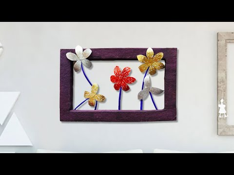 DIY Easy Paper Flower Wall Hanging Frame !!! DIY ROOM DECOR 2019 || Home Decorative Idea