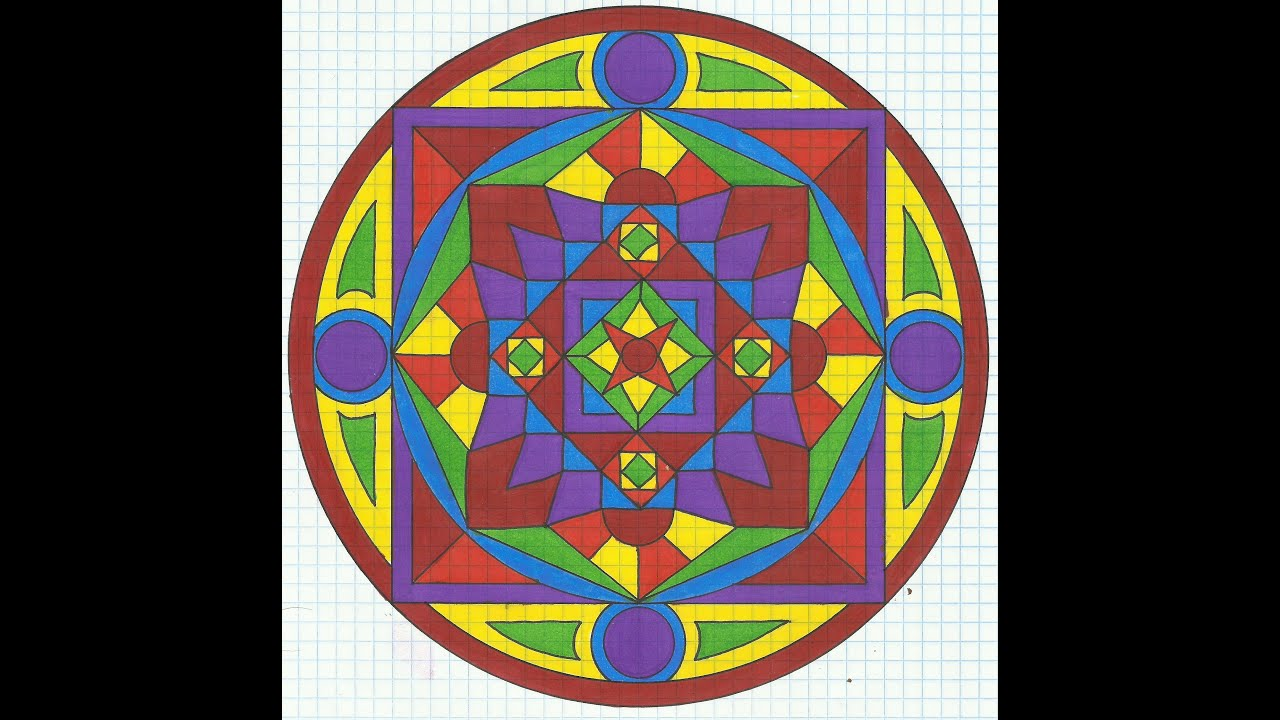 rainbow  u2551 graph paper  u2551 mandala  u2551 tiffany lovering