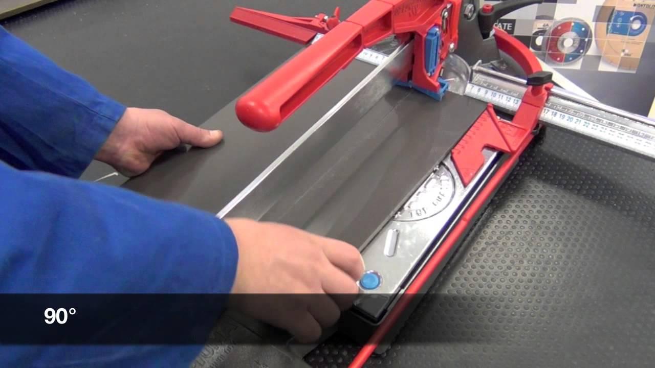 Przecinarka ręczna TI-93-S Rubi - YouTube