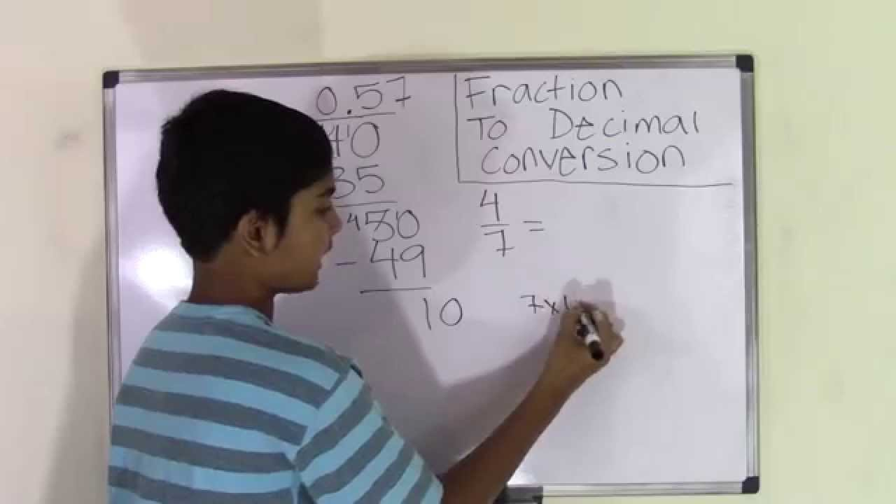 6th Grade Math How to Convert Fraction to Decimal Number - YouTube [ 720 x 1280 Pixel ]