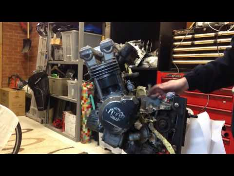 FZR 600 build part 4 - Painting the engine
