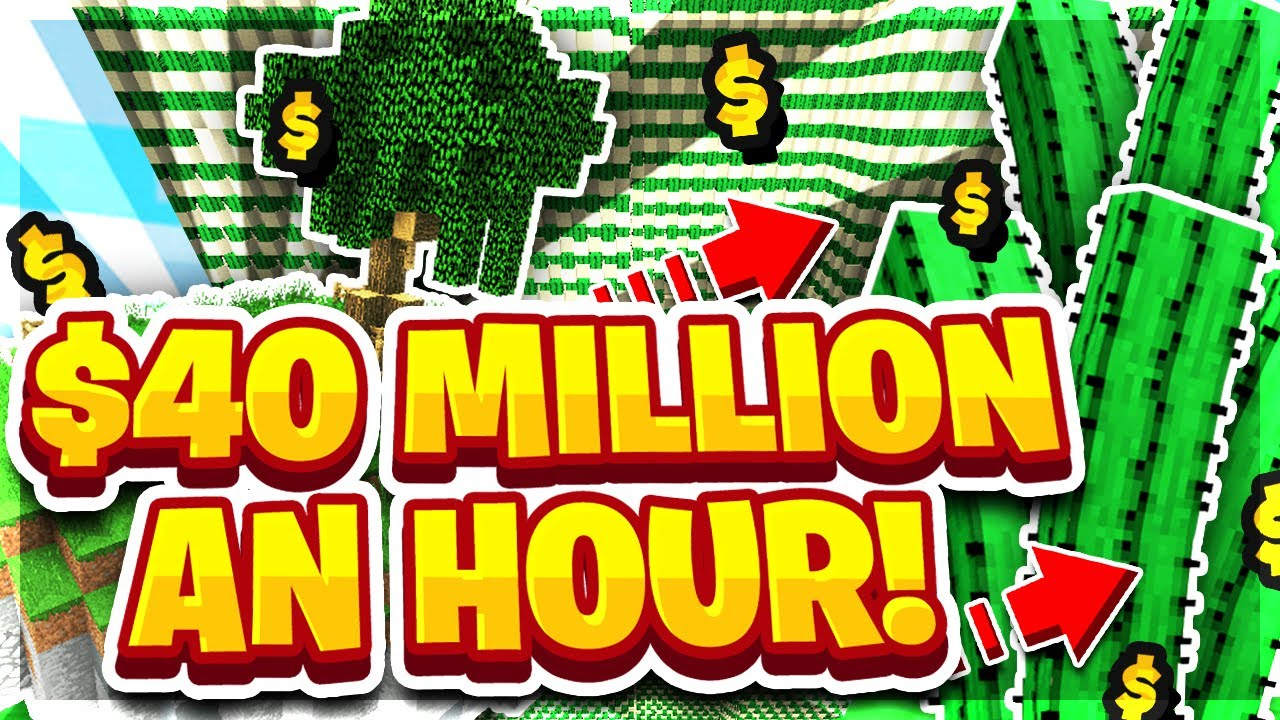 MONSTER OP CACTUS FARM MAKES $40+ MILLION AN HOUR | Minecraft Skyblock |  PvPWars | Fire [5]:: superlike club