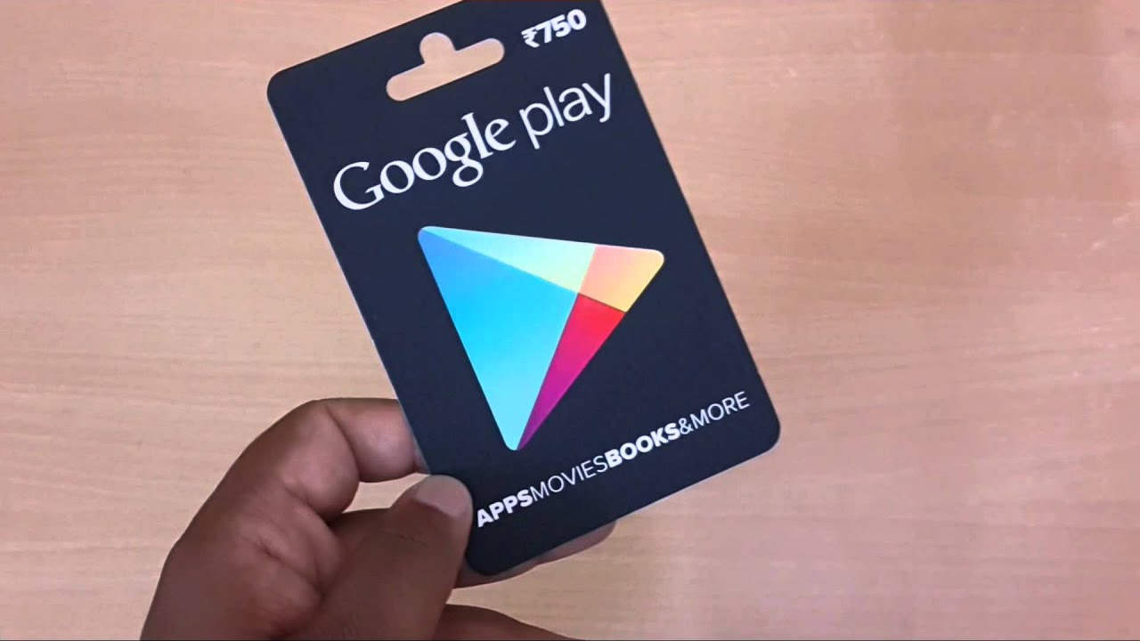 How to Redeem Google Play Gift Card - YouTube
