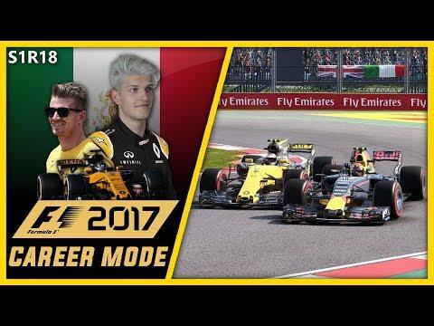 HAMILTON VS RAIKKONEN INCREDIBLE BATTLE!!! F1 2017 CAREER MODE PART 18 l MEXICO!!