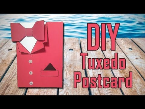 DIY 'Tuxedo' postcard (EASY)