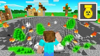 Exploding A NUCLEAR BOMB In MINECRAFT! (crazy)