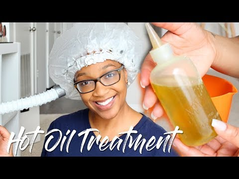 Hot Oil Treatment | How to Grow Relaxed Hair (Pre Poo)