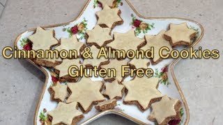 Gluten Free Cinnamon & Almond Biscuits Christmas Stars Video Recipe Cheekyricho