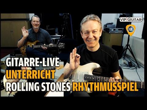 Rolling Stones Rhythmusspiel - Gitarrenunterricht Live - Horst Keller