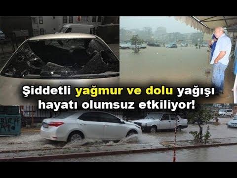 Bandırma'da sel felaketi