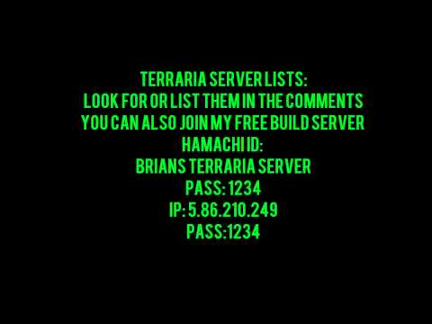 Terraria Server Lists + My Free Build Server - YT
