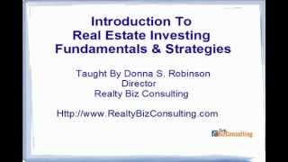 Introduction To Real Estate Investing Strategies