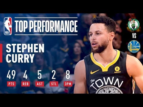 Stephen Curry Lights It Up With 49 Pts vs. the Celtics | January 27, 2018