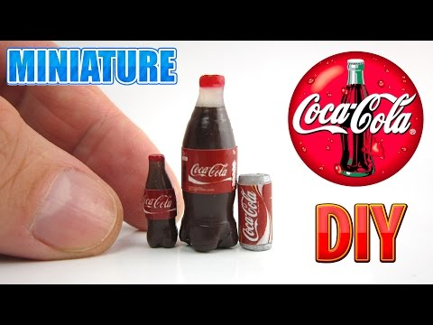 DIY Miniature Coca Cola bottle | DollHouse food, accessories and Toys for Barbie