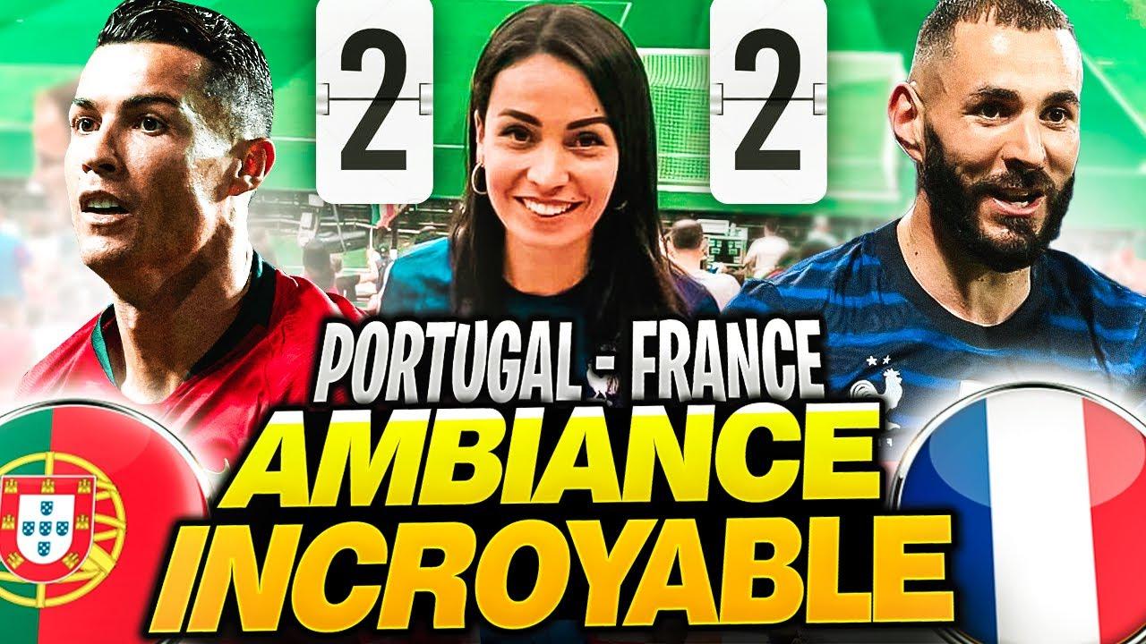 J'ASSISTE AUX DOUBLÉS DE BENZEMA ET RONALDO ! (Portugal France Euro)