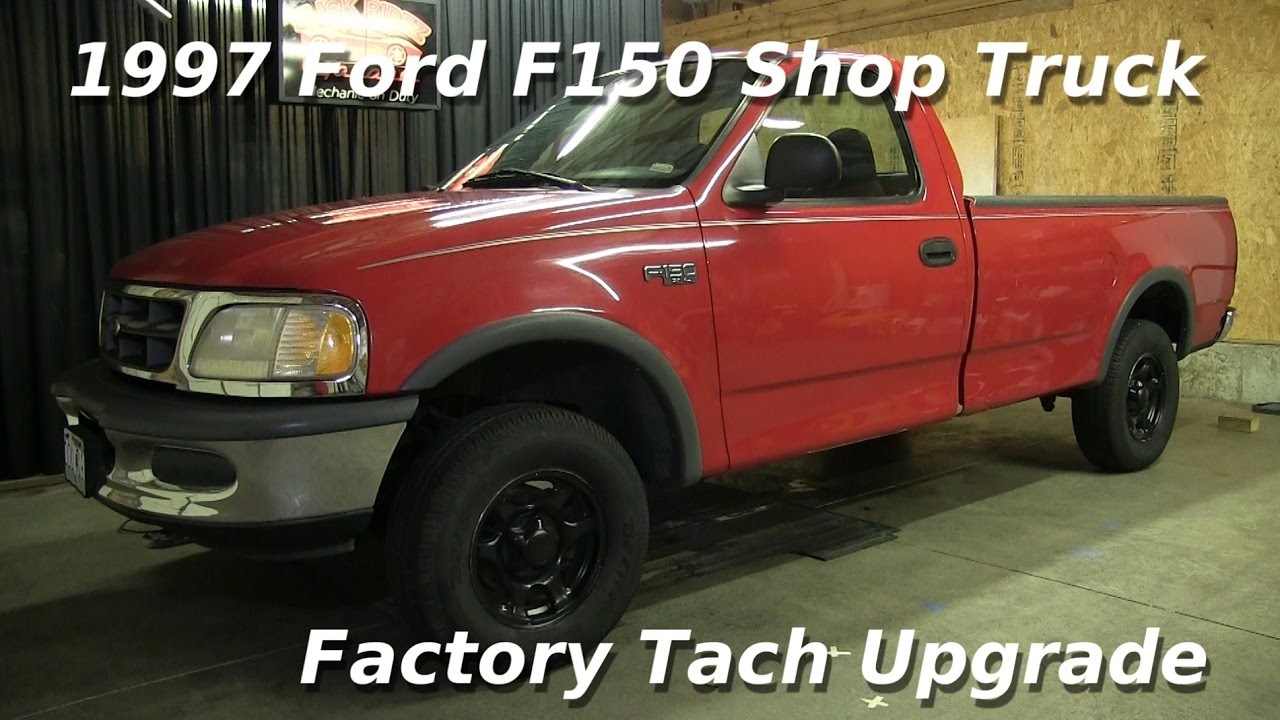 1997 Ford F150 XL Shop Truck Factory Tach Upgrade!