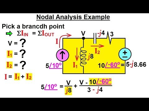 Electrical Engineering Ch 11 AC Circuit Analysis 4 Of 55 Nodal Example