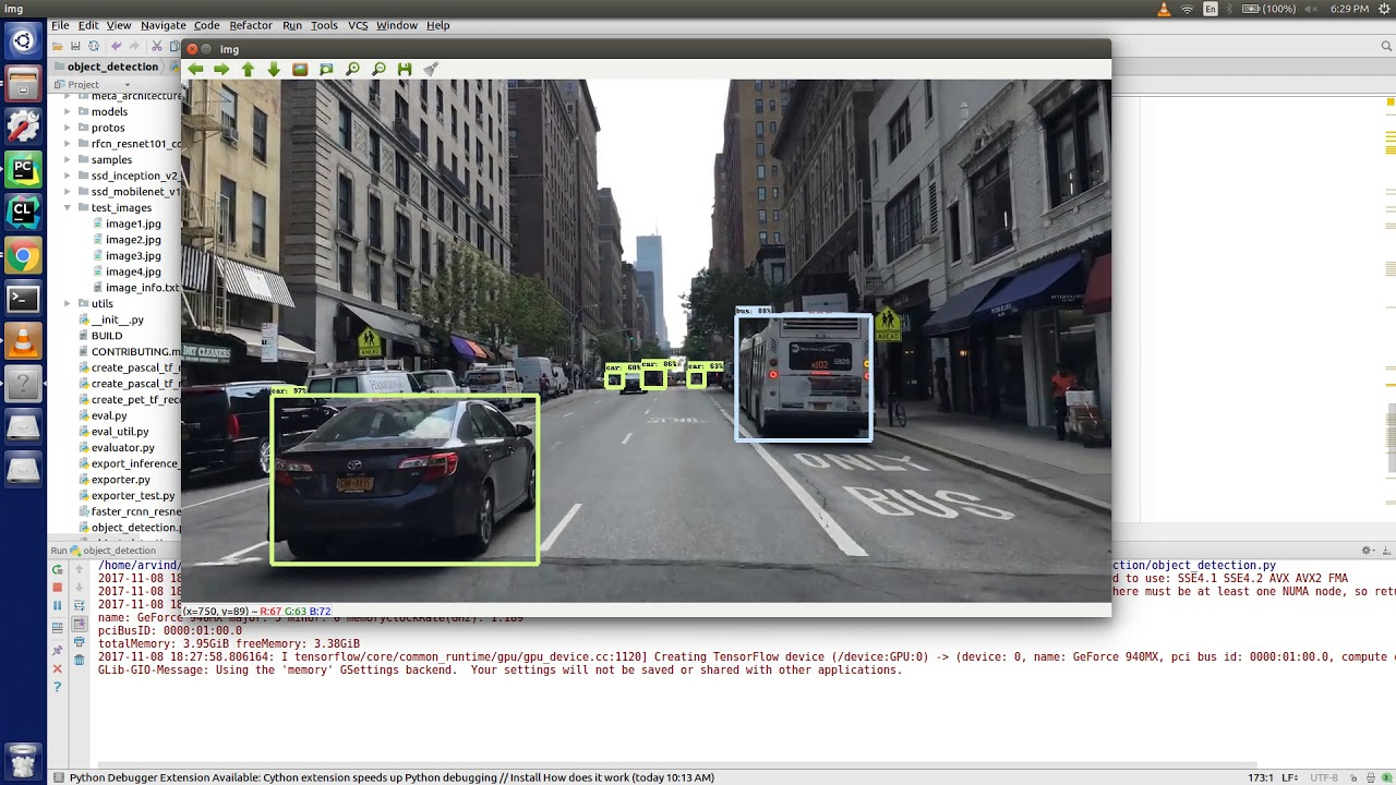 Common Object Detection (People,car, Traffic light ,etc)using Tensorflow,  python