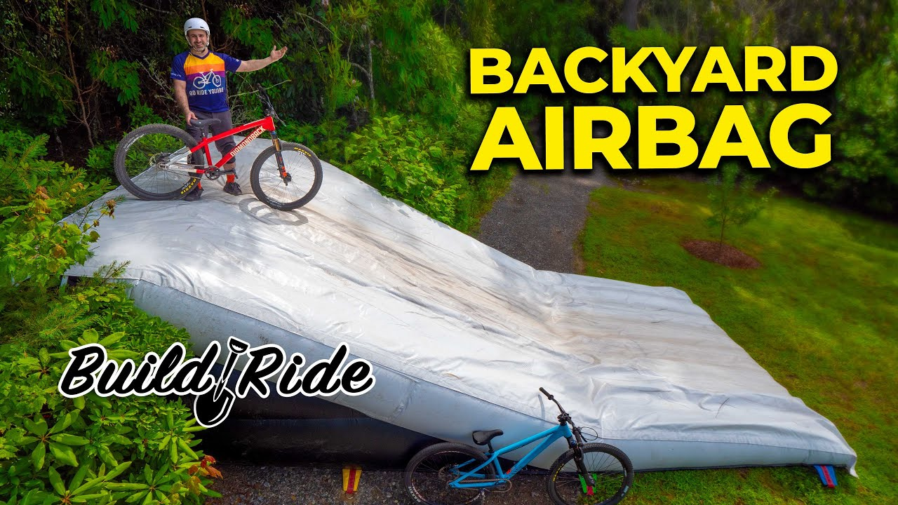Making our backyard airbag jump twice as fun